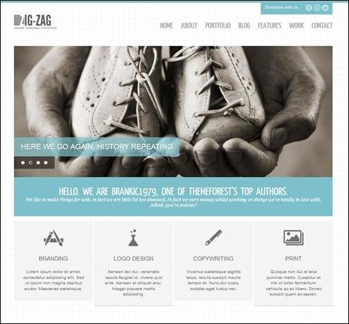Zig Zag – Responsive WordPress Template