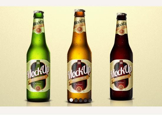 Beer Bottle PSD Mockup Template