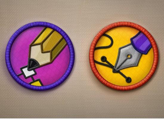 Merit Badge Icons PSD