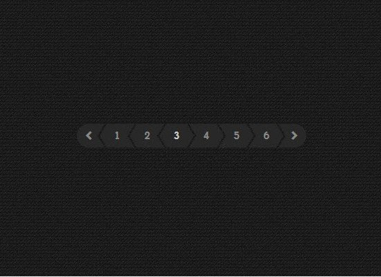 CSS/JS Dark Pagination Design