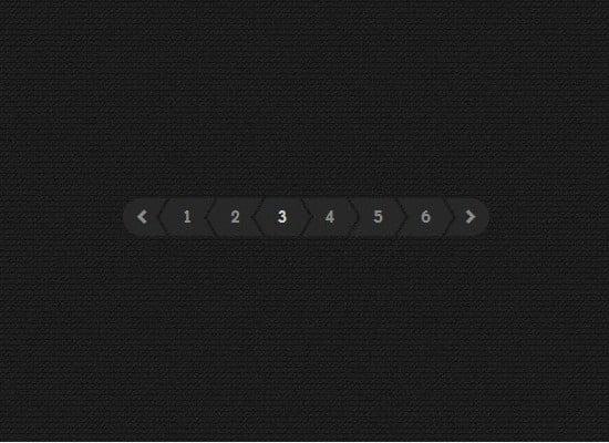 CSS/JS Dark Pagination Design