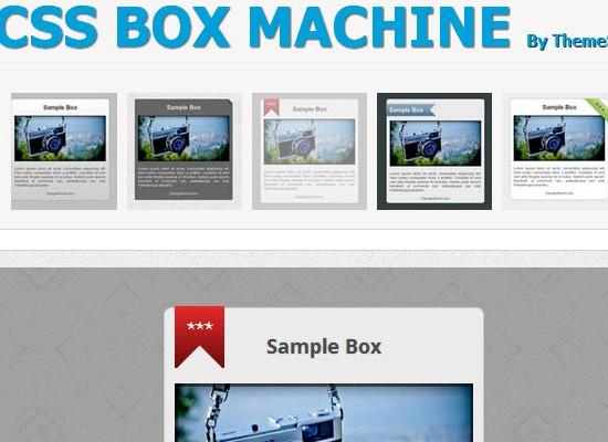 CSS Box Machine