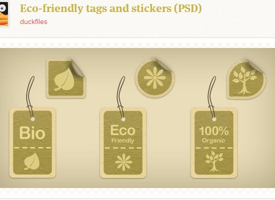 Ecological PSD Tags and Stickers