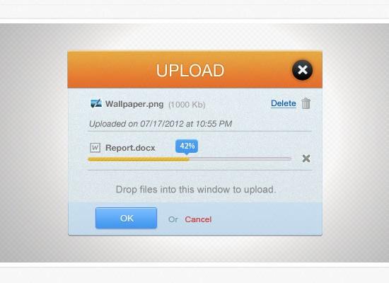 PSD Upload Interface
