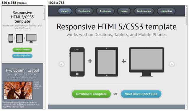 Responsive HTML5/CSS3