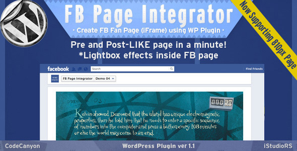 FB Page Integrator - WordPress Plugin