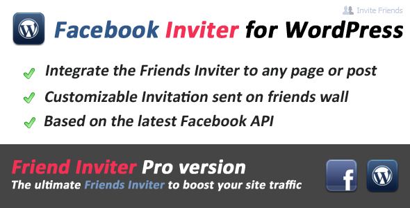 Facebook Friends Inviter for WordPress