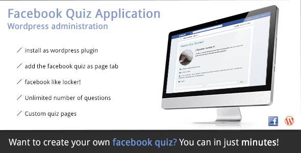 WordPress Facebook Plugin – Quiz Application