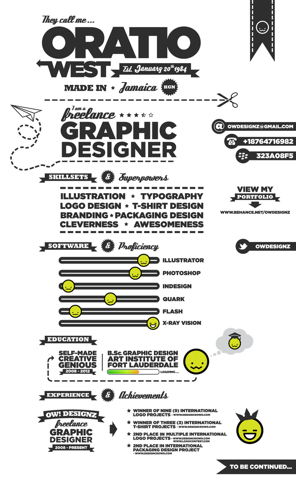 5359d5579ddaaaa6da74d810c971b9411 25 Examples of Creative Graphic Design Resumes