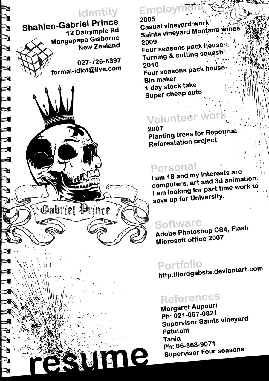 LordGabsta Resume Design 2012