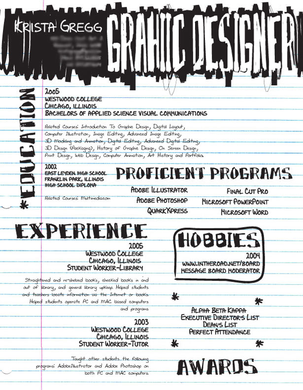 resume design - Sample Graphic Design Resume