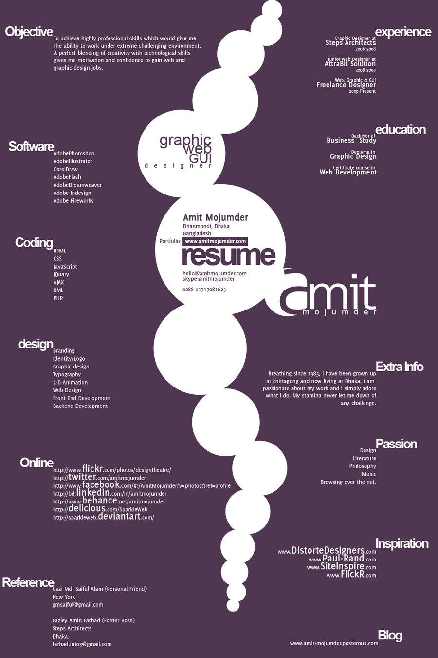Typographic Resume Design