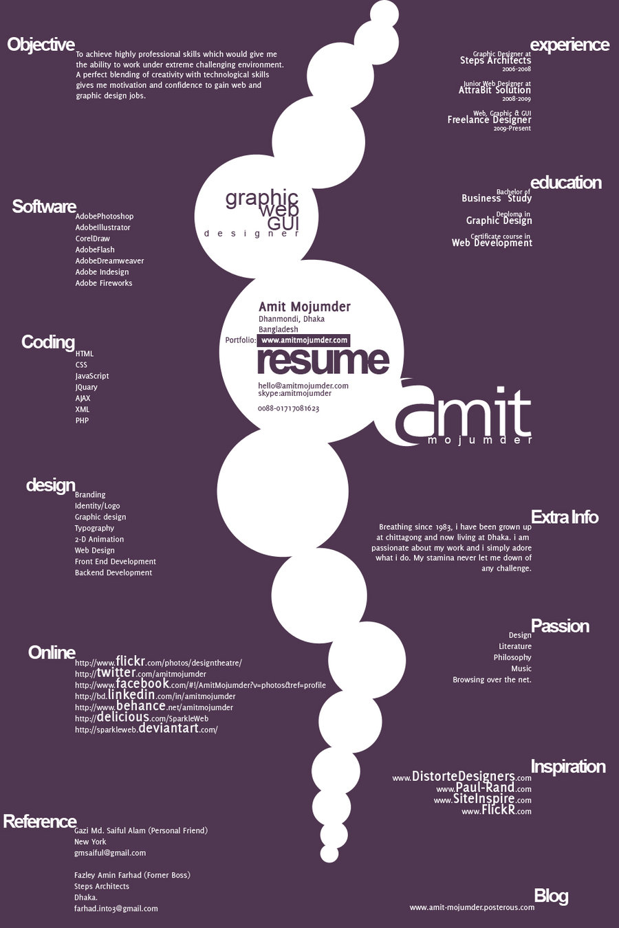 Typographic Resume Design