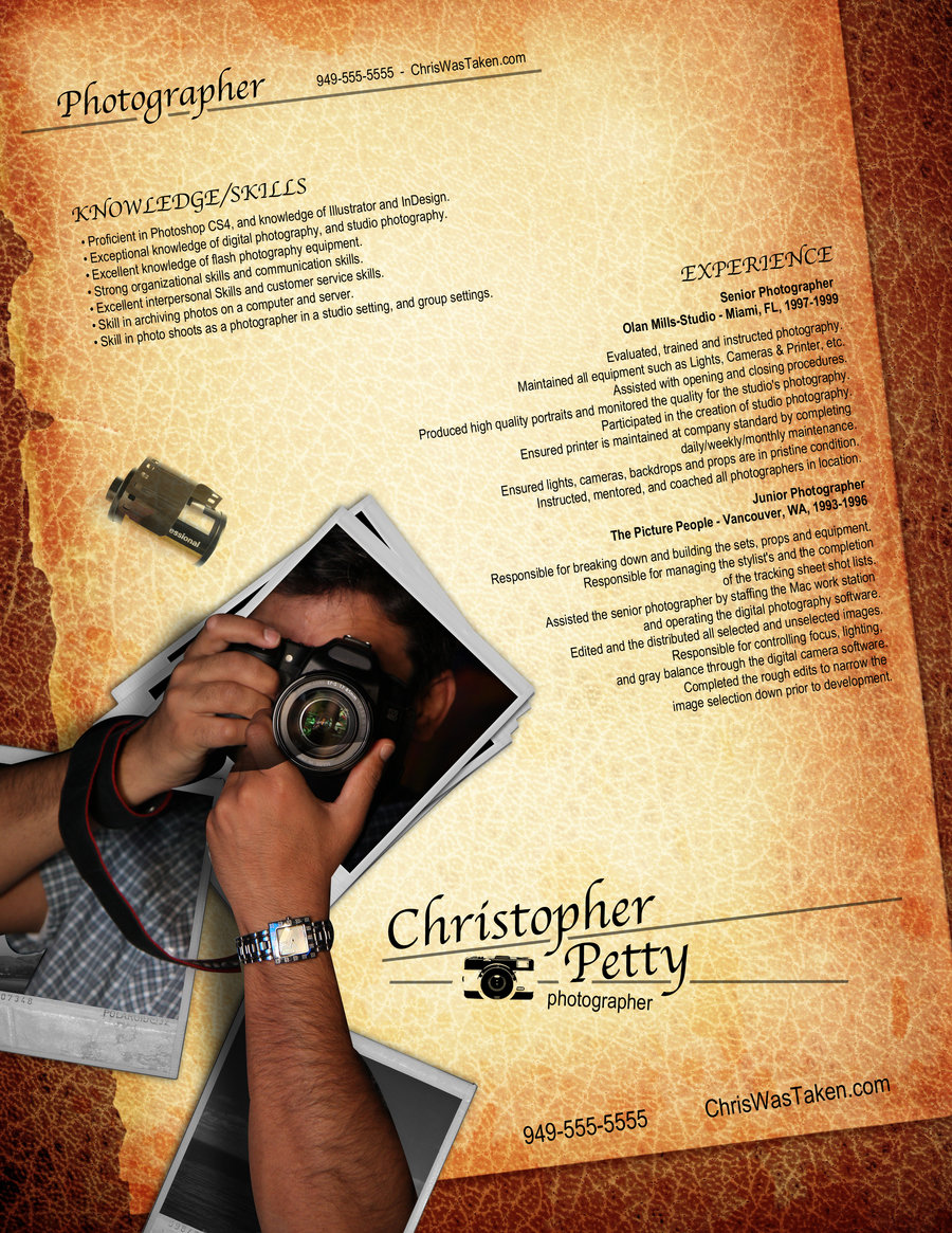 Resume Design for Photgraphers