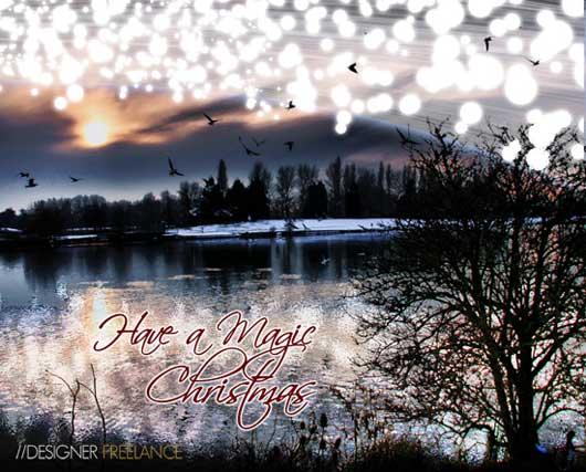 A Magic Christmas Card