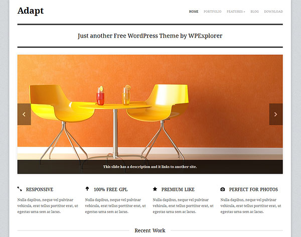Adapt Free Responsive Business Portfolio WordPress Theme