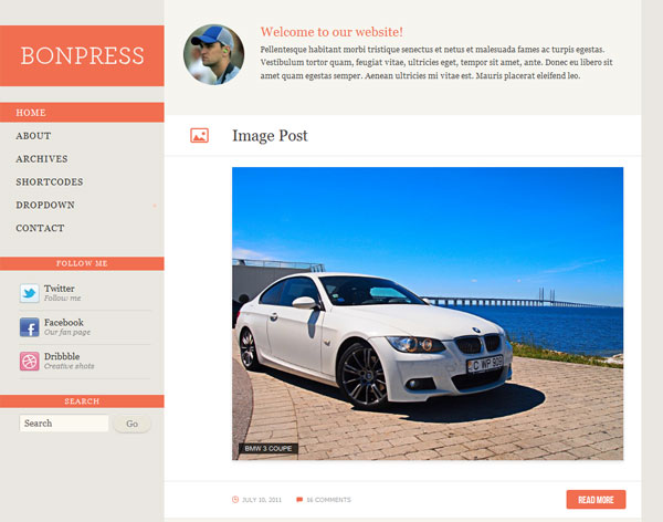 BonPress Free Responsive WordPress Theme