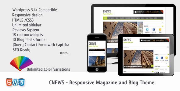 CNEWS - Responsive Magazine and Blog Theme