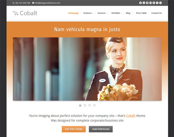 Cobalt - Responsive WordPress Theme