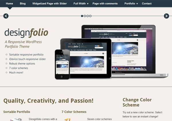 Designfolio Free Responsive WordPress Theme