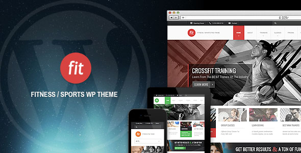 FIT - Fitness Gym Responsive WordPress Theme