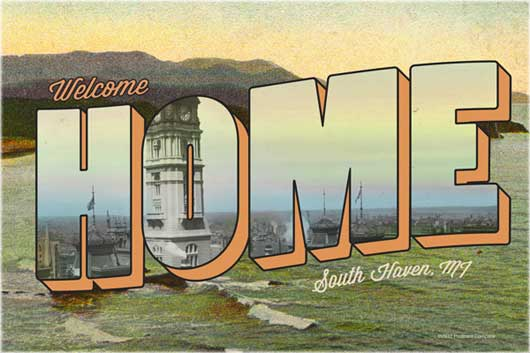 How to Create a Vintage Type Postcard