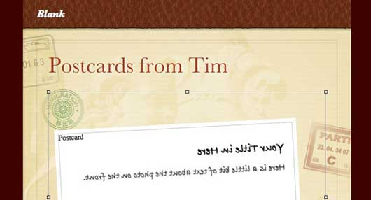 How to create a CSS3 Postcard in iWeb
