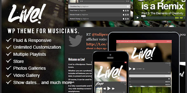 Live! - Premium WordPress Theme for musicians
