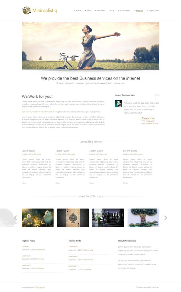 Minimalistiq Free Premium WordPress Theme