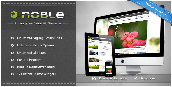Noble Responsive Magazine Builder Kit Theme