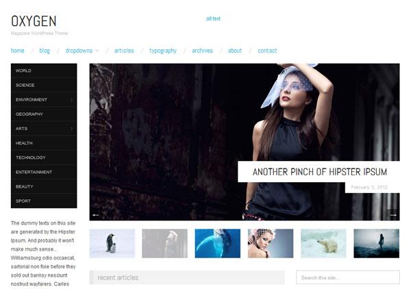 Oxygen Free Responsive WordPress Theme