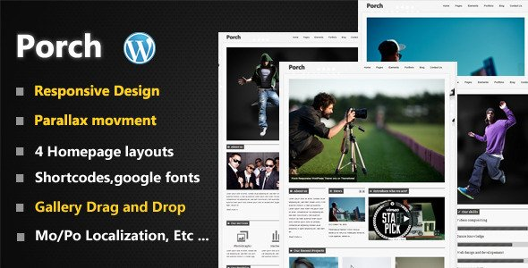 Porch Responsive Minimal WP Theme