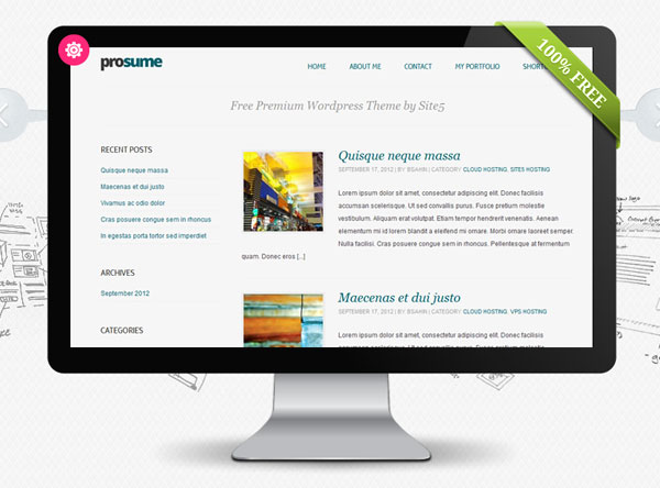 Prosume Simple Free Responsive WordPress Theme
