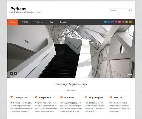 Pytheas Free Responsive Corporate/Portfolio WordPress Theme