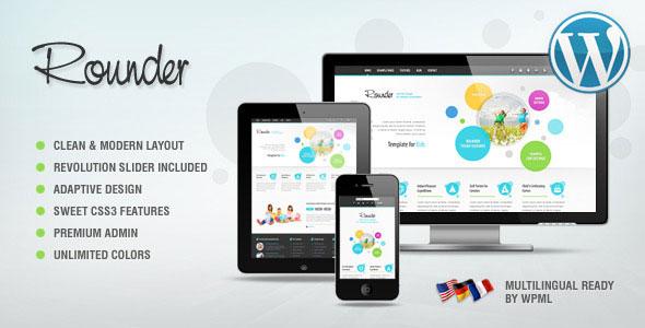Rounder Multi-Purpose Adaptive WordPress Theme