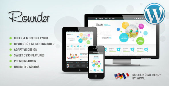 Rounder Multi-Purpose Adaptive WordPress Theme