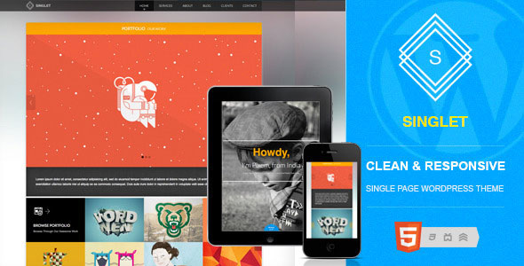 Singlet One Page Responsive WordPress Theme