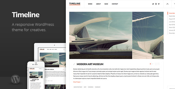 Timeline Minimal Responsive WordPress Theme