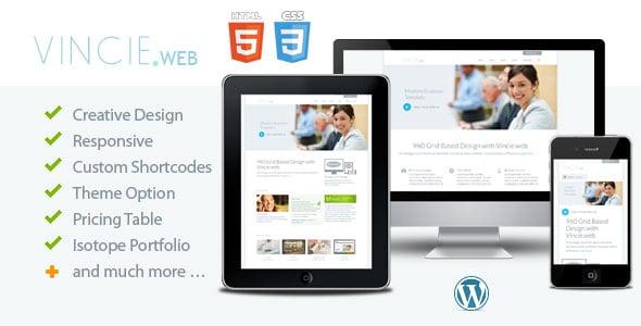 Vincie web - Responsive Modern WordPress Theme