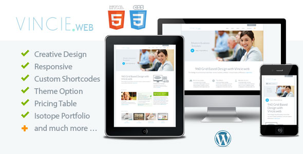Vincie web - Responsive Modern WordPress Theme