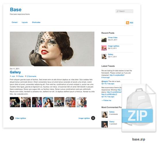 Free Base WordPress Responsive Theme