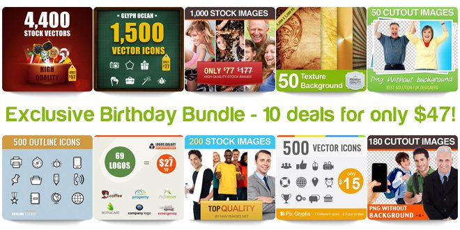 Mighty Deals Exclusive Birthday Bundle   10 deals for only $47!