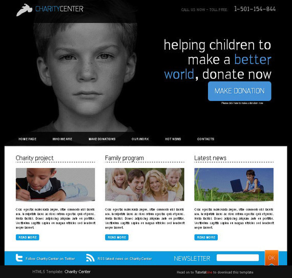 HTML5 Charity Center Template