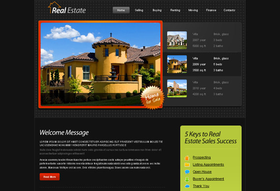 HTML5 Template – Real Estate Website