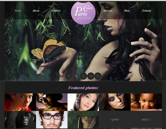 Free Website Template with JustSlider