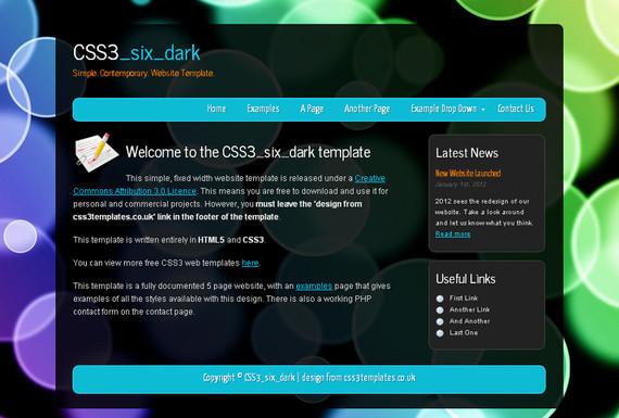 CSS3 Six Dark