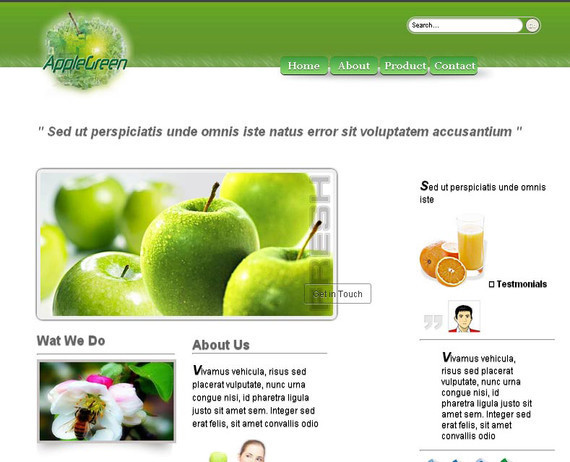 AppleGreen HTML5 and CSS3 Template