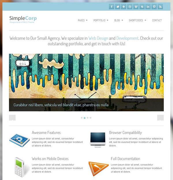 SimpleCorp Free Responsive WordPress Theme