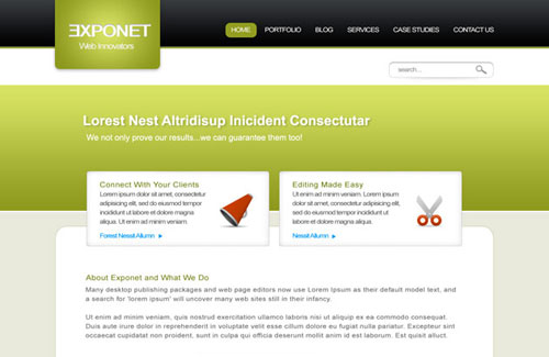Exponet Business Site: Free PSD Website