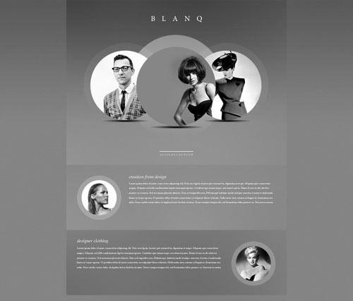 Free Website PSD - Blanq